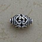 Filigree Hearts Oval Bead