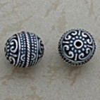 Granulation Accented Round Bead