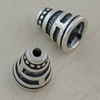 Conical Silver Bead Cap