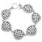 Detailed Filigree Swirled Link Bracelet