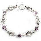 "7-1/2"" Filigree Link Toggle Bracelet 6rd"