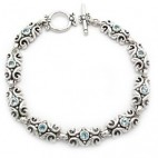 "7-1/2"" Filigree Link Toggle Bracelet 3rd"