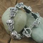 Alien Eyes Skull Bracelet