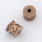 Bamboo Weave Bronze Bead