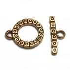 Round Motif Bronze Toggle