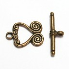 Double Swirl Bronze Toggle