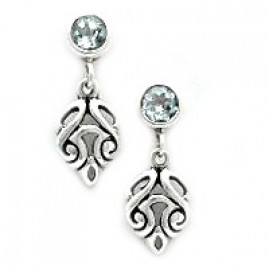 Vintage Style Filigree Drop Post Earrings 5rd