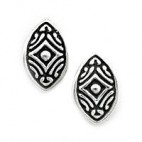 Art Deco Almond Shaped Post Earrings