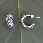 Art Deco Half Hoop Earrings