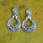 Art Deco Hoop Post Earrings