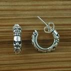 Cuff Skull Silver Earrings