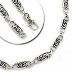 Double Swirl Openwork Link Necklace