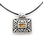 Engraved Rectangular Pendant 3sq+3sq