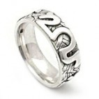 Raised Scrollwork Silver Ring