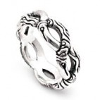 Intertwined Vines Openwork Silver Ring