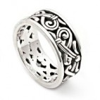 Elaborate Filigree Swirled Silver Ring