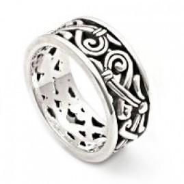Elaborate Filigree Swirled Silver Ring