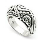 Asymmetrical Filigree Silver Ring