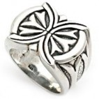 Art Deco Ring with Butterfly Motif