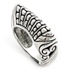 Art Ring with Embellished Silver