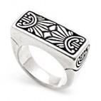 Art Deco Rectangular Silver Ring