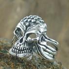 Alien Head Skull Ring