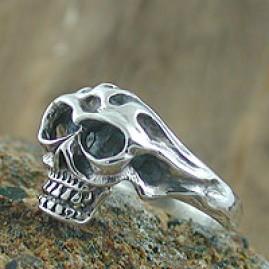 Baby Monkey Skull Ring