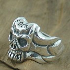 Skull and Tribal side Ring