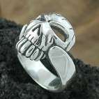 Skull and Guitar Strap Ring